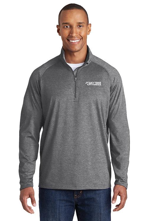 Sport-Tek® Sport-Wick® Stretch 1/2-Zip Pullover - Charcoal Grey Heather