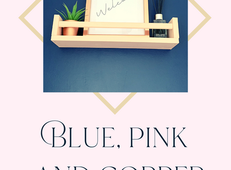 Blue, pink & copper: A simplistic modern porch