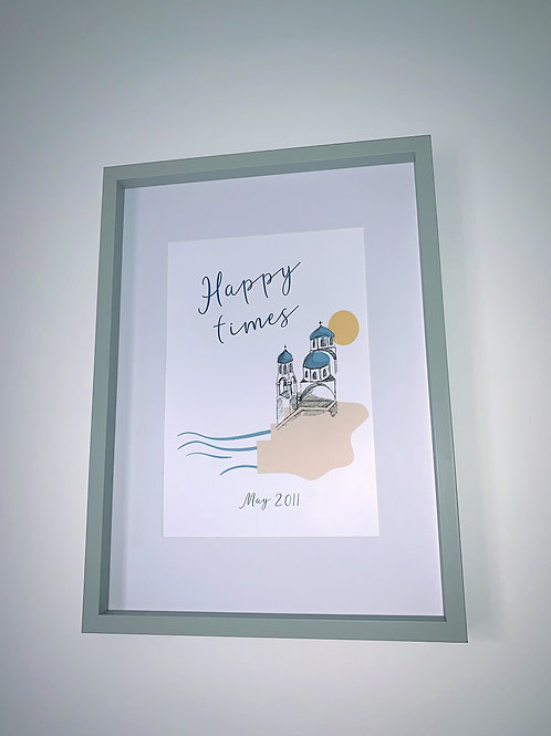 Happy times print