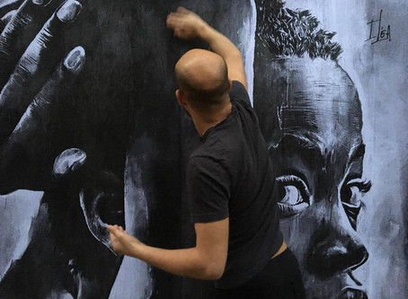 Somewhere in the streets of Paris one of my pictures is being used for street art.