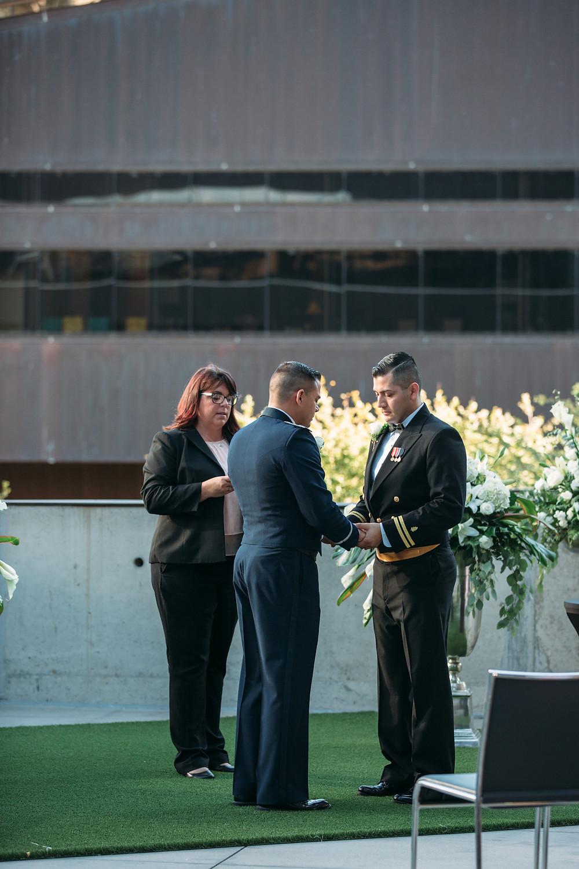 Christel Stuart - Wedding Officiant: W Hotel Wedding - Same Sex (photo credit Elissa R Photography)