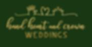 hand heart and crown weddings logo