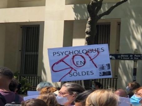 10 juin 2021, les psychologues manifestent