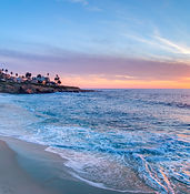 Magnificent sunset on the beach in La Jo