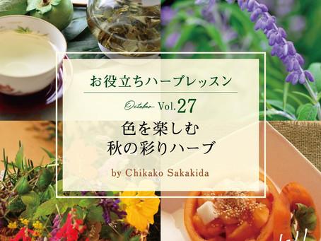 YUMENOKI FACTORY のハーブ便り🌿秋の彩りハーブ
