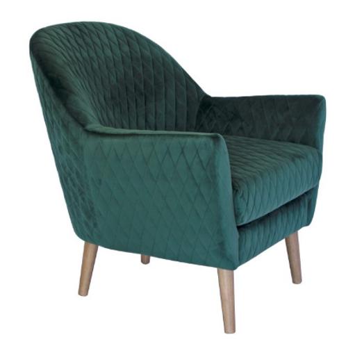 Yulara Chair green velvet