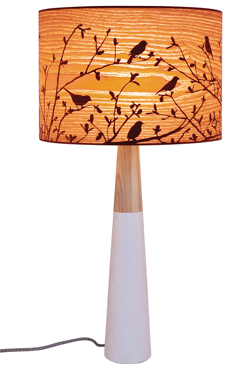 Tall Timber Sparrows Lamp 28x58cm