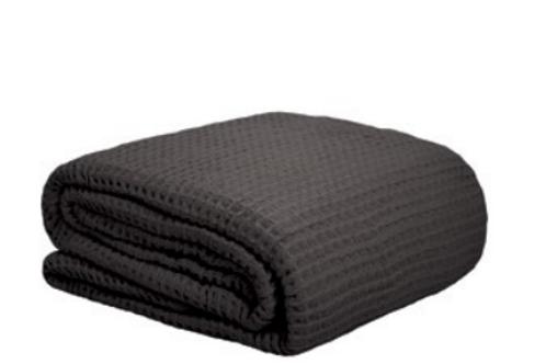 Waffle Blanket Charcoal