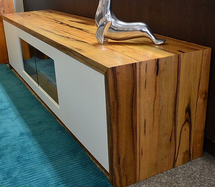 Marri TV Unit with White Edging