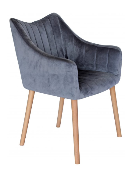 Bendigo Velvet Grey Chair