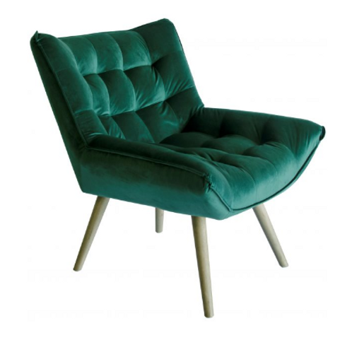 Bailey Emerald velvet chair