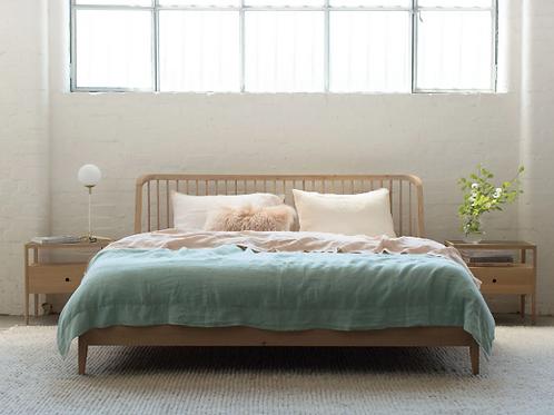 Oak Spindal Bed Frame