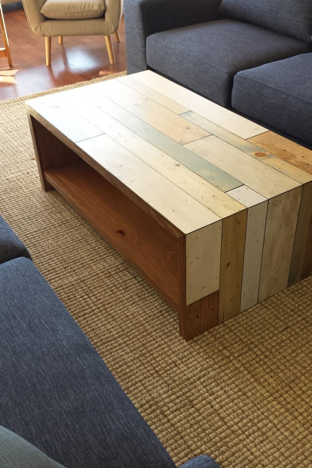 Astonishing Coastal Coffee Table Waterfall Edge With Shelf Bay Furniture Cjindustries Chair Design For Home Cjindustriesco