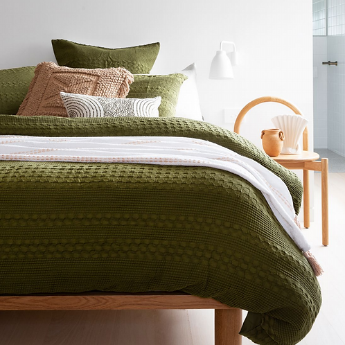 Heath Quilt Cover Olive Green