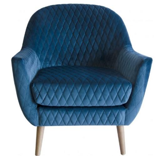 Yulura Chair blue velvet