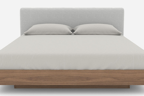 Asami Timber Base with Fabric Headboard