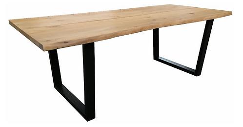 Oak with Iron U leg Table