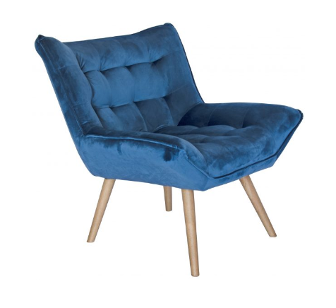Bailey Blue Velvet Chair