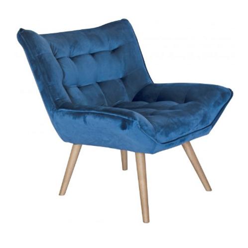 Bailey Blue velvet chair