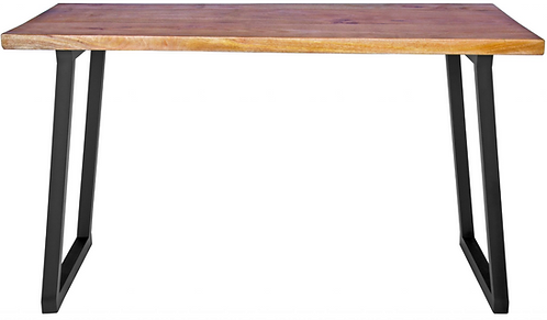 Mango Wood Desk with Metal Base