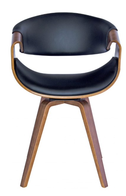 Regis chair black and walnut