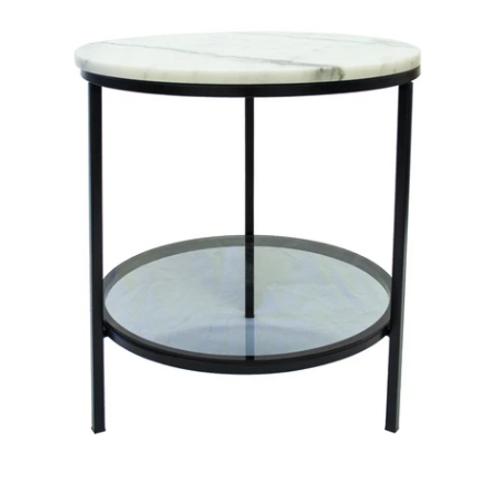 Park Marble Side Table Black