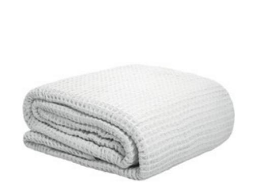 Waffle Blanket White
