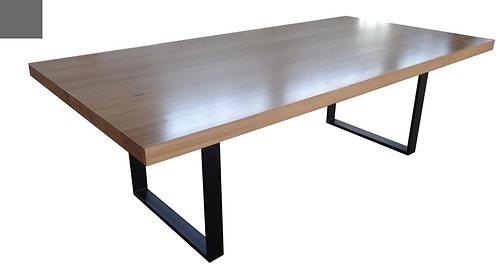 Messmate Timber Table with Metal U Leg