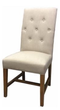 Flax chair buttons linen