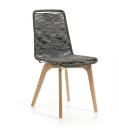 Rope chair grey