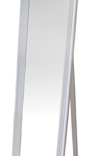 French Standing White Mirror