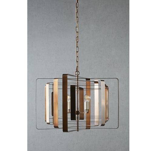 Bronte Ceiling Light Brass 50x70 pic 1
