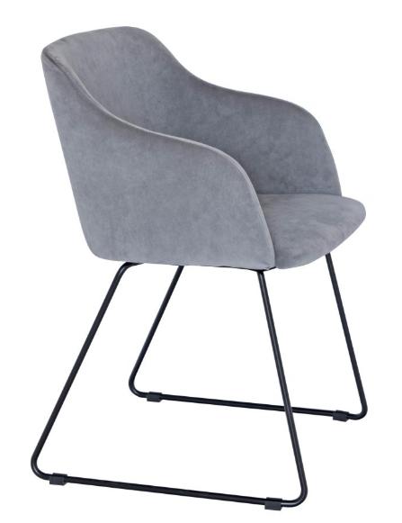 Otus chair grey velvet