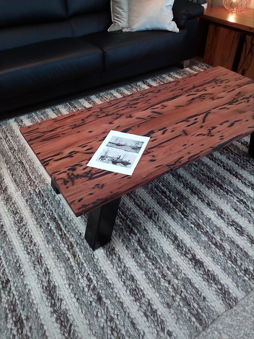 Jetty Timber Coffee Table with Metal Legs