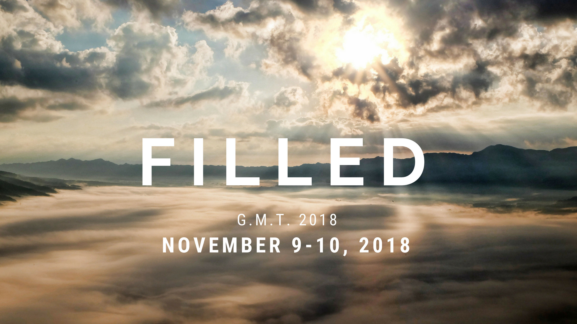 Pray for FILLED Conference 2018