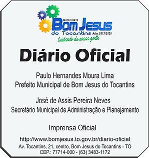 Diário Oficial Municipal de Bom Jesus do Tocantins-TO