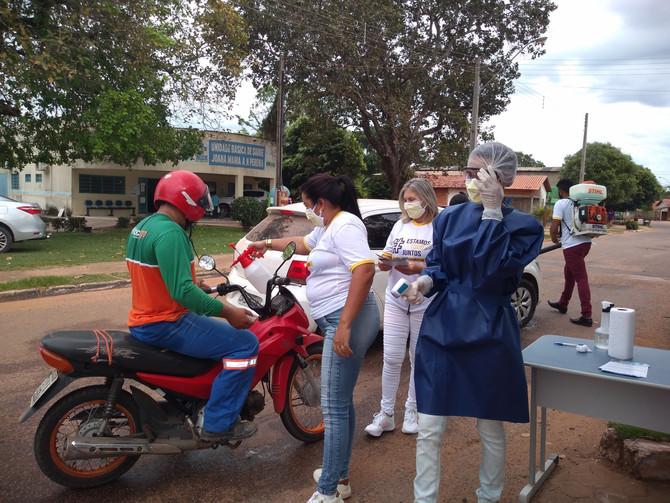 Barreiras Sanitárias são instaladas nas principais entradas de acesso ao município para combate ao C