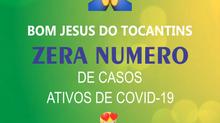 Município de Bom Jesus do Tocantins zera casos de Covid-19