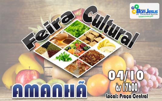 Convite: Mais uma edição da Feira Cultural será realizada amanhã, 04/10