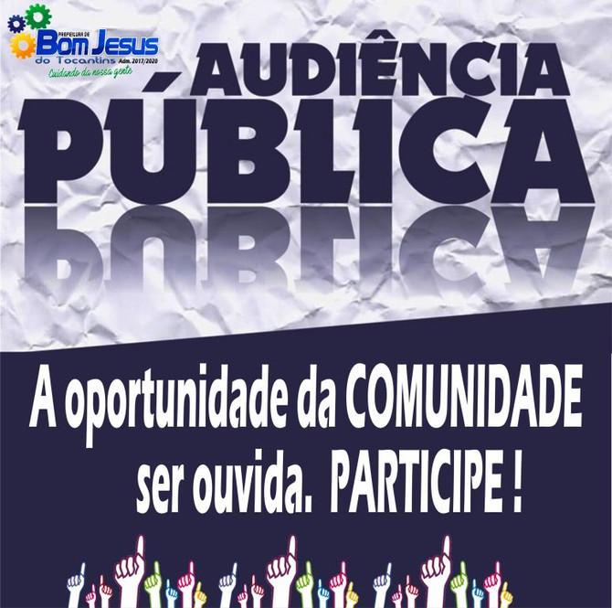 Prefeitura realizará nesta segunda (26) Audiência Pública para discutir com a comunidade detalhes so