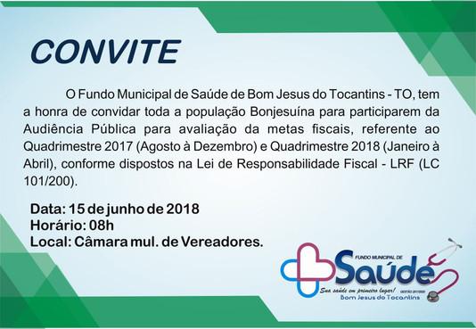 Fundo Municipal de Saúde convida população para Audiência Pública de Prestação de Contas