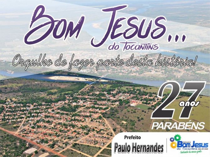 Com 27 anos de emancipação política, Bom Jesus comemora seu aniversário nesta terça (20)