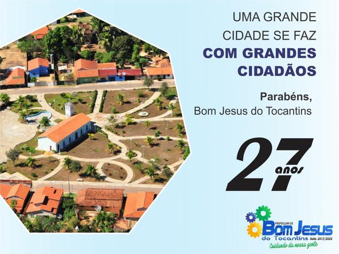 Bom Jesus do Tocantins comemora 27 anos de emancipação política