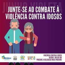 CRAS participa da campanha Junho Violeta de conscientização da violência contra a pessoa idosa