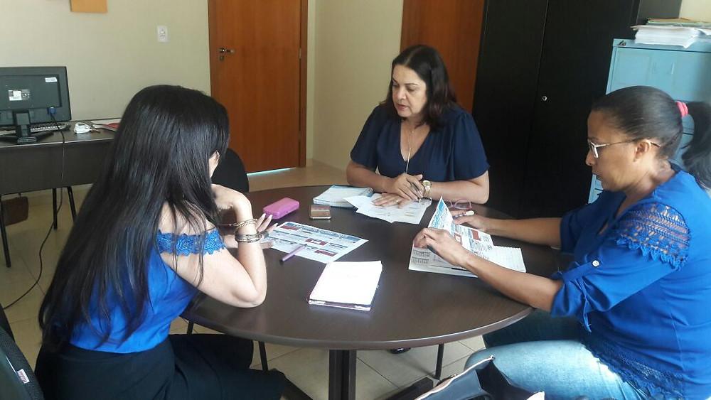 Secretária Itamar Lopes reunião com a DRE Pedro Afonso TO