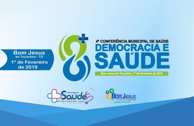 Convite: Será realizada nesta sexta-feira, (1º) a 4ª Conferência Municipal de Saúde
