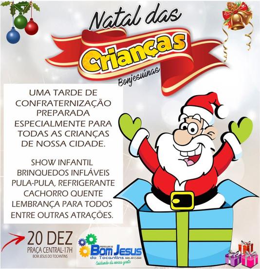Com o tema: Natal das Crianças Bonjesuínas,  prefeitura realizará grande festa para toda a criançada