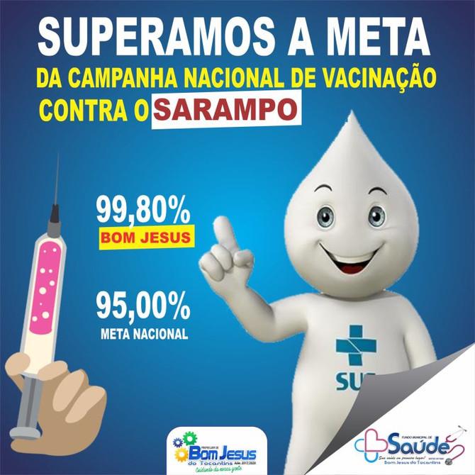 Bom Jesus ultrapassa meta nacional da campanha de vacinação contra sarampo