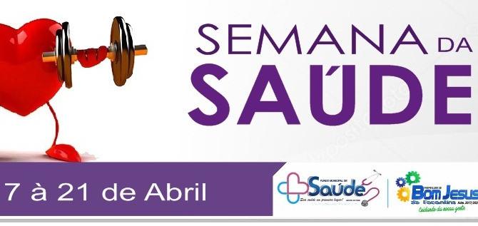 """Secretaria de Saúde promove a """"Semana da Saúde"""" de 16 à 22 de abril de 2018"""