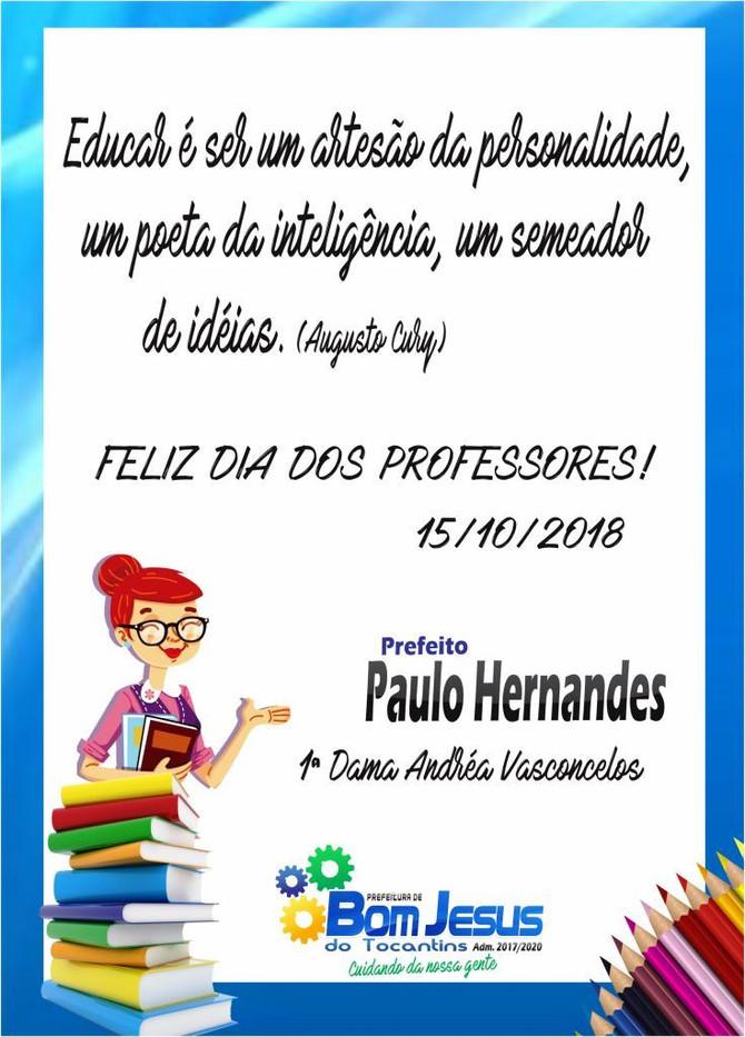 Parabéns professores pelo seu dia!